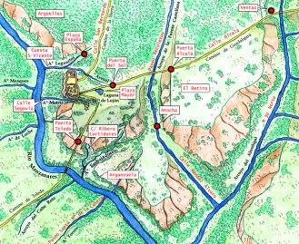 Mapa arroyos Madrid